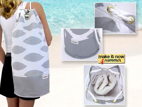 Пляжные рюкзаки своими руками