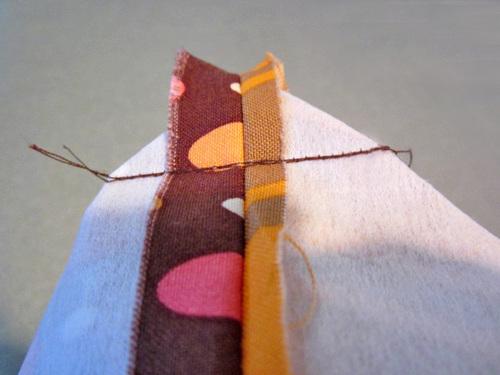 сшиваем детали сумки