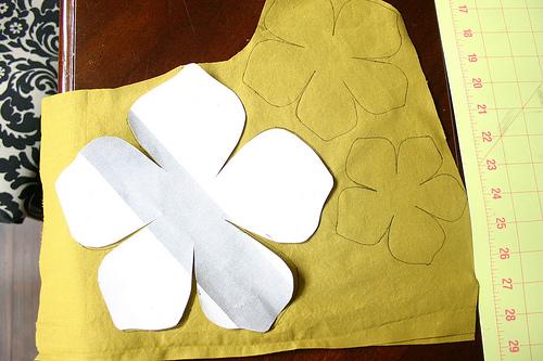 Цветы из ткани своими руками простые