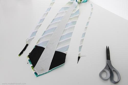сшиваем детали галстука