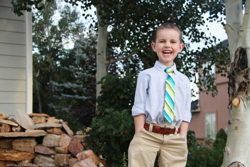 детский галстук готов