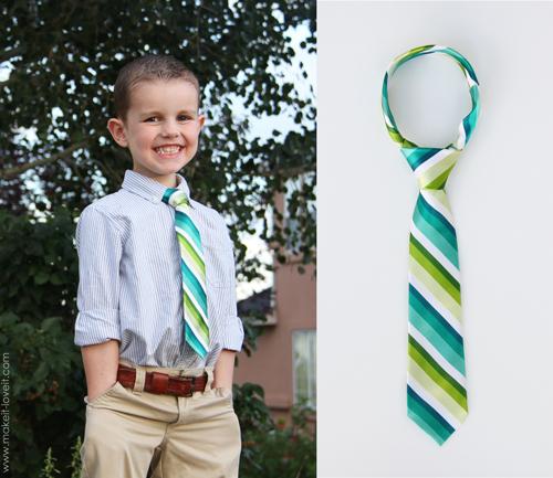 шьем галстук для мальчика