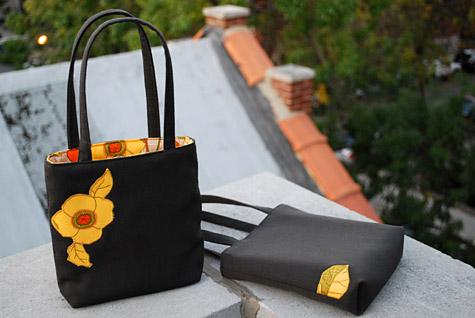 сумка с цветком своими руками