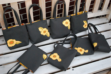 сумка с цветком