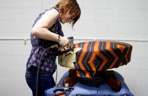 как сделать чехол на кресло самому