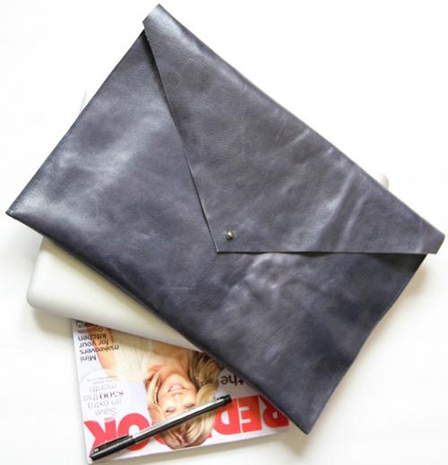 Клатч конверт из кожи своими руками 21
