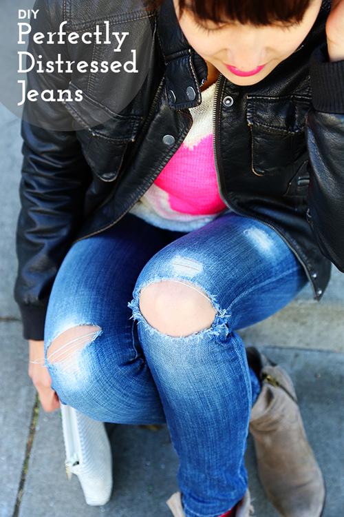сделать рваные джинсы своими руками