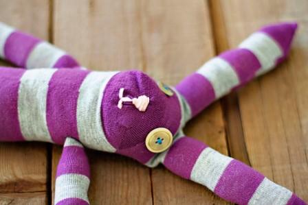 заяц из носка игрушка