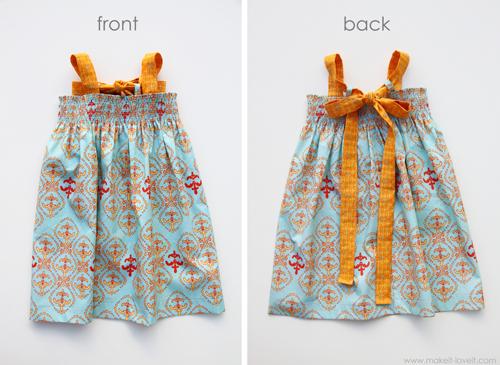 Платье для девушки летнее своими руками