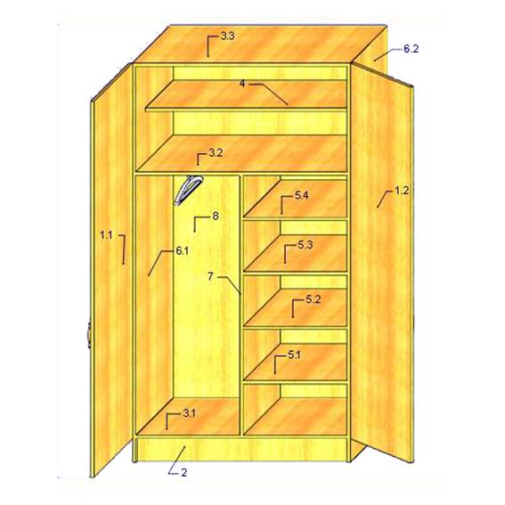Шкаф из фанеры своими руками схемы и чертежи