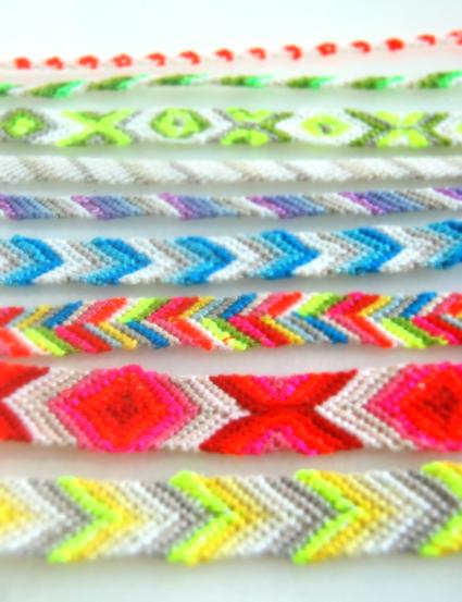 браслеты дружбы, плетение