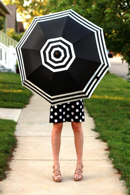 зонт своими руками, декор зонта, ручная работа