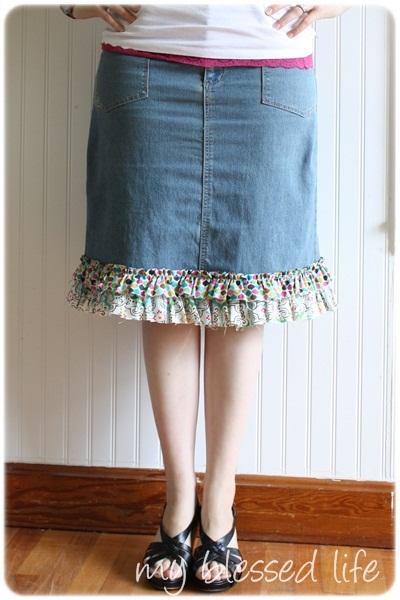 Как перешить юбку своими руками