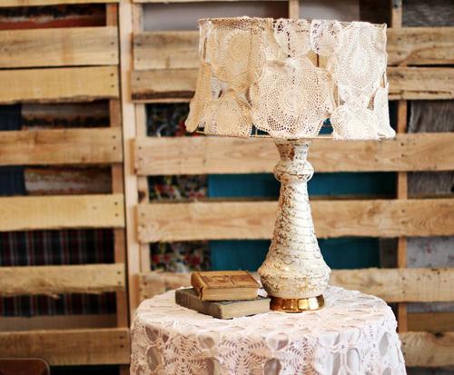 Декор старых торшеров своими руками