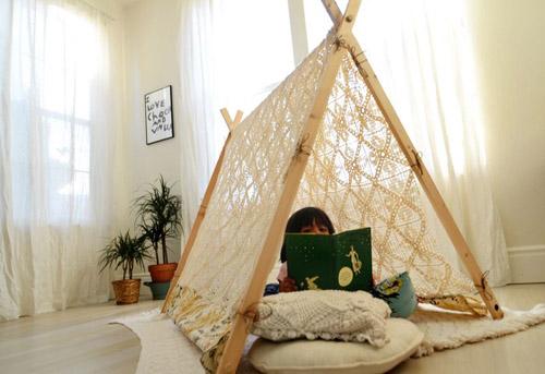 Как построить шалаш дома своими руками