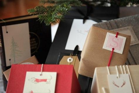 украшение подарков на новый год