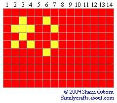 флаг Китай бисер