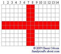 флаг Англии бисер