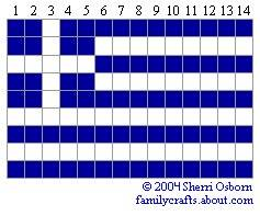 флаг Греция бисер