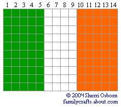 флаг Ирландия бисер