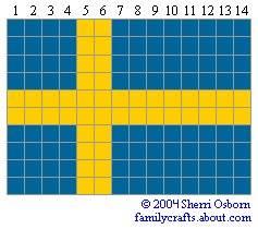 флаг Швеция бисер