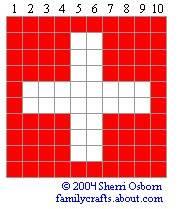 флаг Швейцария бисер