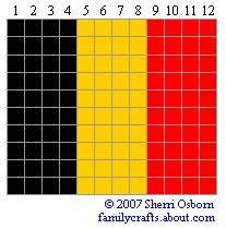 флаг Бельгия бисер