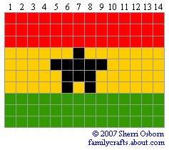 флаг Гана бисер