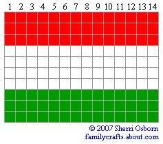 флаг Венгрия бисер