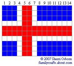 флаг Исландия бисер