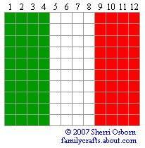 флаг Италия бисер