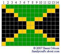 флаг Ямайка бисер
