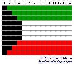 флаг Кувейт бисер