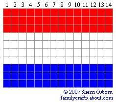 флаг Голандия бисер
