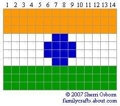 флаг Индия бисер