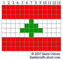 флаг Ливан бисер