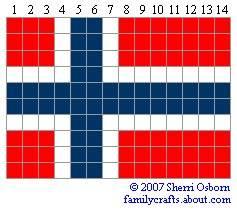 флаг норвегия бисер