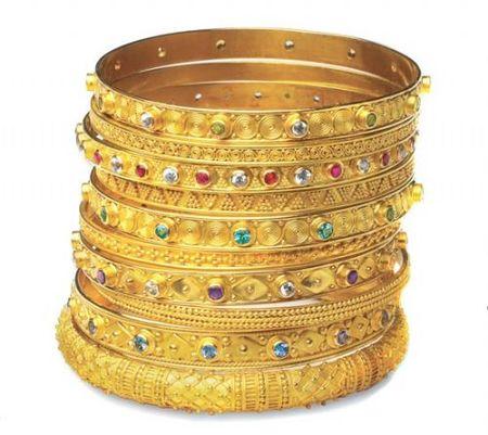 Золотые украшения ручной работы