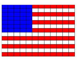 Схема флага из бисера
