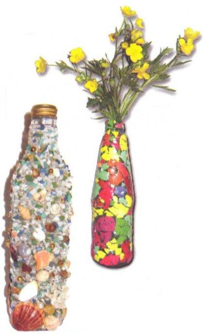 Декорирование бутылок крупой