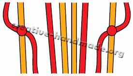 резинок схема с плетение браслета
