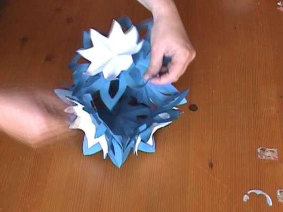 Поделки из бумажной массы: ребристый шарик поделки из бумаги.