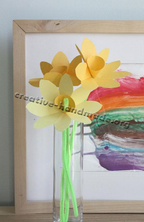 Цветы из бумаги своими руками легко и