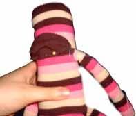 кукла-обезьяна ручной работы