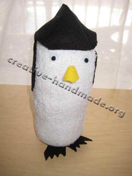Лялька-пінгвін з носка