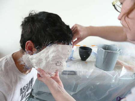 маска лица из гипса